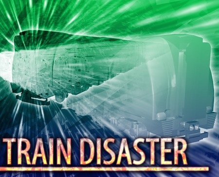 derail: Abstract background illustration train disaster rail