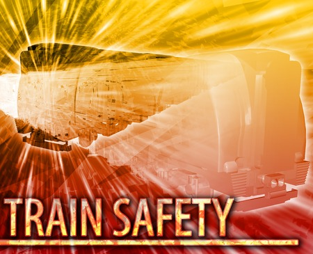 derail: Abstract background illustration train safety rail
