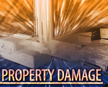 sabotage: Abstract background illustration property damage destruction Stock Photo