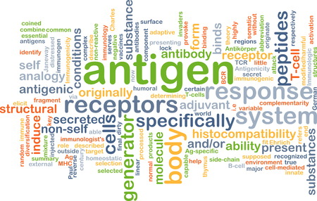 receptors: Background concept wordcloud illustration of antigen