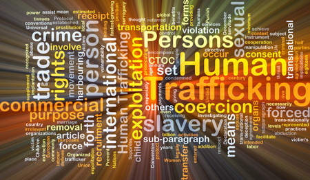 consent: Background concept wordcloud illustration of human trafficking