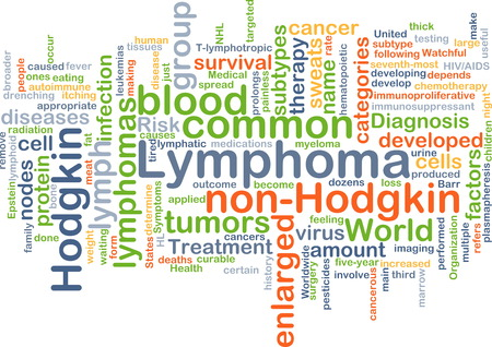 lymphoma: Background concept wordcloud illustration of lymphoma