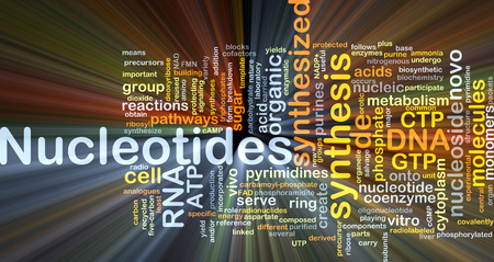 nucleotides: Background concept wordcloud illustration of nucleotides Stock Photo