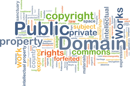 public domain: Background concept wordcloud illustration of public domain Stock Photo