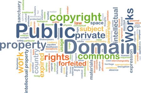 private domain: Background concept wordcloud illustration of public domain Stock Photo