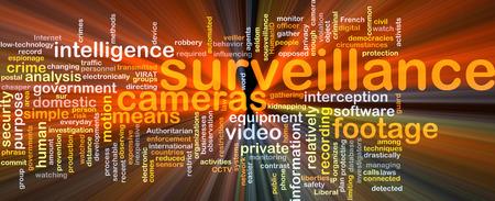 Background concept wordcloud illustration of surveillance