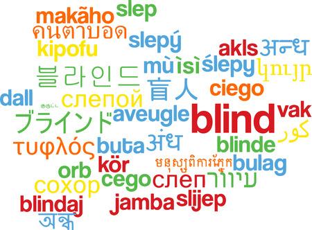 unable: Background concept wordcloud multilanguage illustration of blind