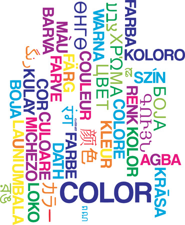 Background concept wordcloud multilanguage illustration of color