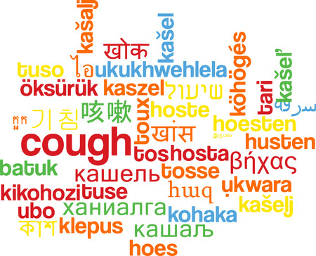 multilanguage: Background concept wordcloud multilanguage illustration of cough