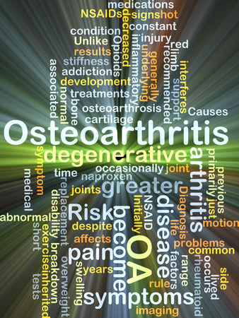 artrosis: Concepto de fondo wordcloud ilustraci�n de la OA artrosis