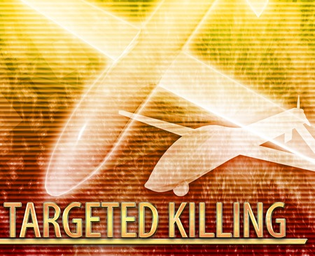targeted: Abstract background illustration of targeted killing drone Stock Photo
