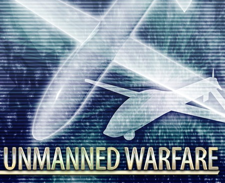 unmanned: Abstract background illustration of unmanned warfare drone