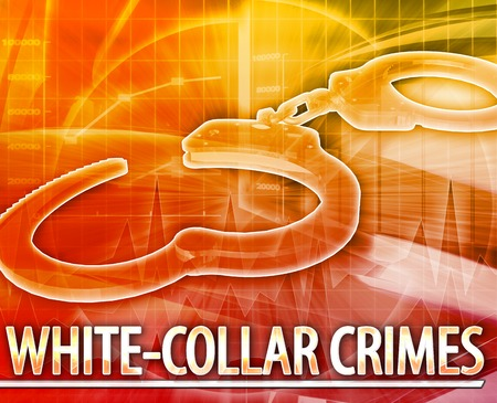 punish: Abstract background illustration of white-collar crime