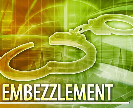 felony: Abstract background illustration of embezzlement crime