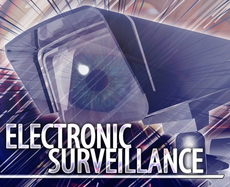 technology collage: Abstract background illustration of electronic surveillance