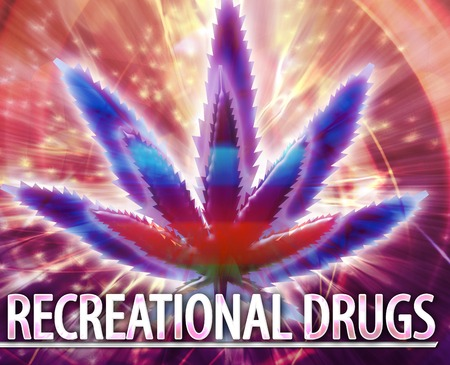 recreational drug: Abstract background illustration of recreational drugs