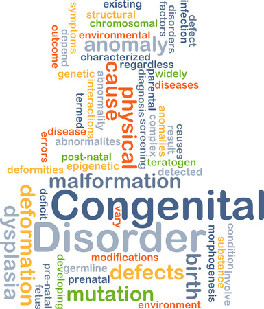 Background concept wordcloud illustration of congenital disorder Stock Photo