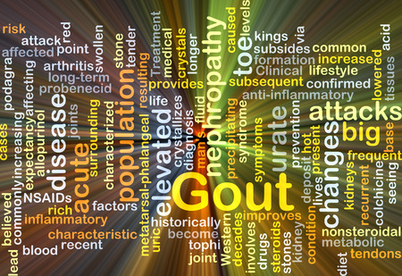 gout: Background concept wordcloud illustration of gout Stock Photo