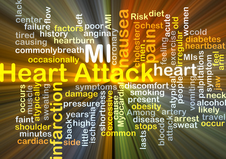 myocardial infarction: Background concept wordcloud illustration of heart attack
