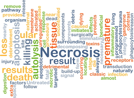 inflammatory: Background concept wordcloud illustration of necrosis