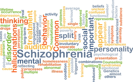 major depression: Background concept wordcloud illustration of schizophrenia