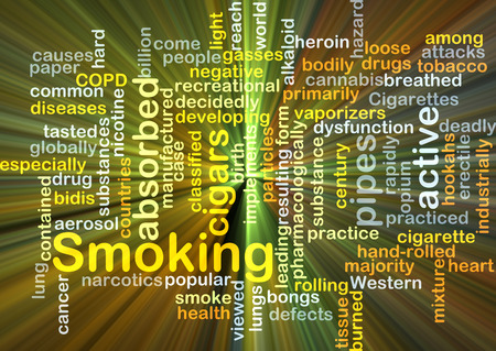 absorbed: Background concept wordcloud illustration of smoking