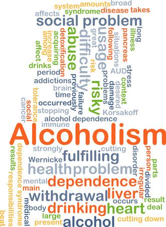 alcoholismo: Concepto de fondo wordcloud ilustraci�n del alcoholismo
