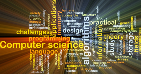 practical: Background concept wordcloud illustration of computer science
