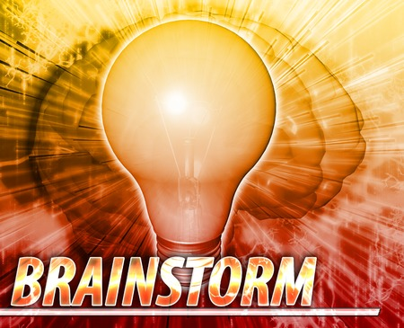 think through: Abstract background illustration of brainstorm creative ideas