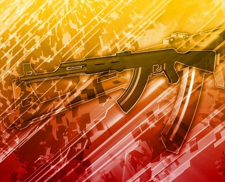 insurgency: Abstract background illustration of terrorism terror attack