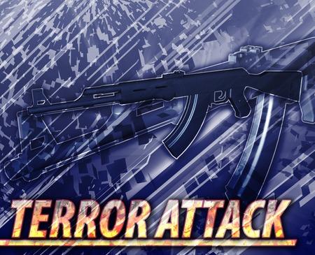 insurgency: Abstract background illustration of terror attack terrorism Stock Photo