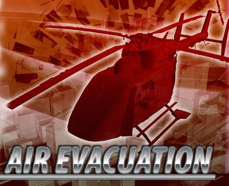 evacuacion: Resumen de antecedentes ilustración helicóptero de evacuación de aire Foto de archivo