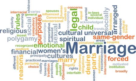 mariage: fond, concept, wordcloud illustration du mariage