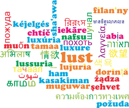 lust: Background concept wordcloud multilanguage international many language illustration of lust Stock Photo