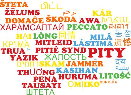 pity: Background concept wordcloud multilanguage international many language illustration of pity