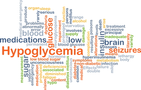 lethargy: Background concept wordcloud illustration of hypoglycemia Stock Photo