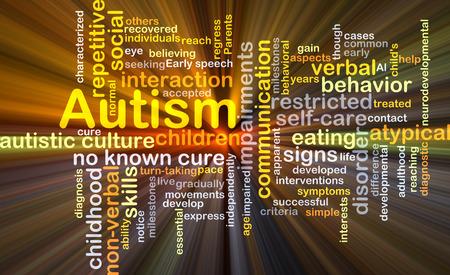 autocuidado: Concepto de fondo wordcloud ilustraci�n de la luz resplandeciente del autismo