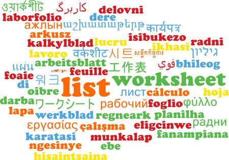 enlist: Background concept wordcloud multilanguage international many language illustration of list