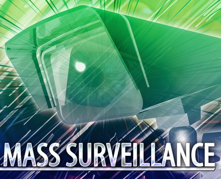 mass: Abstract digital collage concept illustration mass surveillance Stock Photo