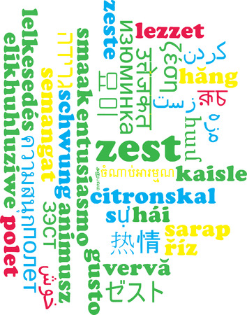 rinds: Background concept wordcloud multilanguage international many language illustration of zest Stock Photo
