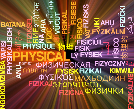 somatic: Background concept wordcloud multilanguage international many language illustration of physical glowing light