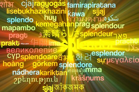 Background concept wordcloud multilanguage international many language illustration of splendor glowing light Stock Photo