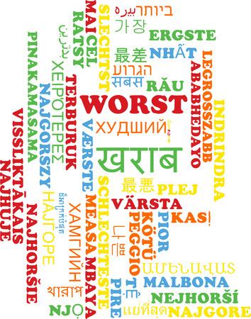 worst: Background concept wordcloud multilanguage international many language illustration of worst Stock Photo