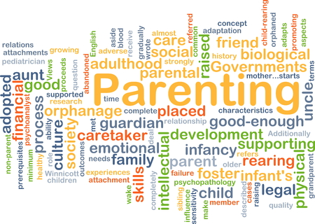 parenting: Background concept wordcloud illustration of parenting Stock Photo
