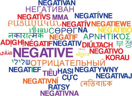 multilanguage: Background concept wordcloud multilanguage international many language illustration of negative