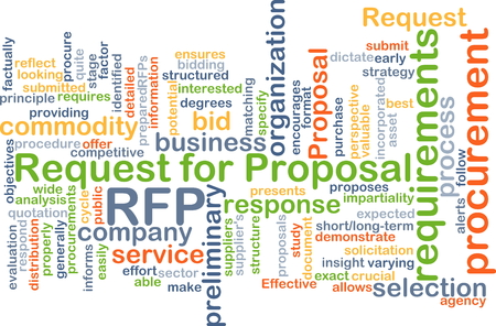 request: Background concept wordcloud illustration of request for proposal RFP
