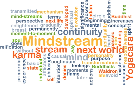 continuum: Background concept wordcloud illustration of mindstream Stock Photo