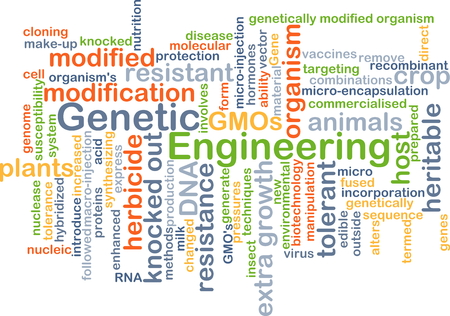 recombinant dna: Background concept wordcloud illustration of genetic engineering Stock Photo