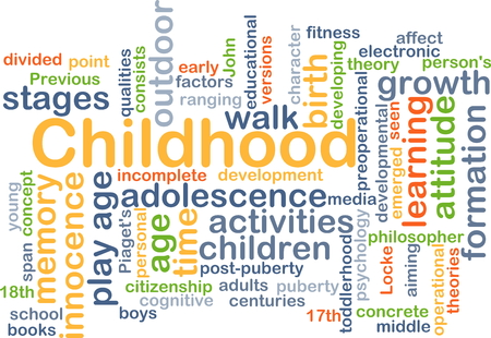 developmental: Background concept wordcloud illustration of childhood
