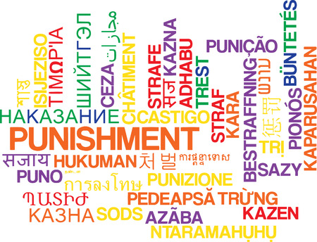 punishment: Background concept wordcloud multilanguage international many language illustration of punishment